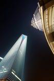 Shanghai-WeltFinanzzentrum und Jinmao Kontrollturm Stockfotografie