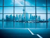 Shanghai window outside view Stock Photography
