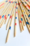 Shanghai - wooden sticks. Some wooden colored sticks from the chinese game called  Shanghai Stock Photography
