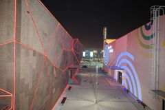 The 2010 Shanghai World Expo pavilion between the aisle Royalty Free Stock Photos