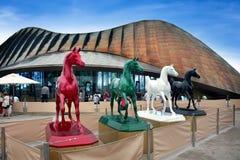 Shanghai World Expo united Arab Emirates Pavilion. With blue sky royalty free stock images