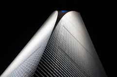Shanghai World Financial Center. As seen form directly in front of the building Royalty Free Stock Photography