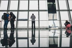 Shanghai World Financial Center building Observatory Royalty Free Stock Image
