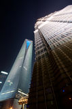 Shanghai World Financial Center and Jinmao Tower Royalty Free Stock Photography