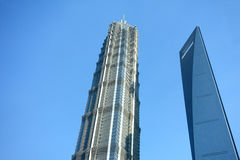 Shanghai world financial center and jinmao tower Stock Photo