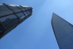 Shanghai world financial center and jinmao tower Stock Photos