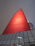 Shanghai World Financial Center in Red Stock Images