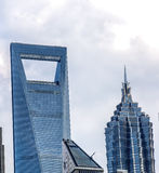 Shanghai World Financial Center. Shanghai's Jin Mao Tower and Shanghai World Financial Center SWFC Royalty Free Stock Photography