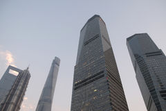 Shanghai world financial center. Skyscrapers in Lujiazui group in Shanghai, China royalty free stock photos