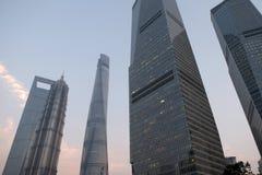 Shanghai world financial center Stock Photo