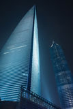 Shanghai World Financial Centre at night, China. SHANGHAI–NOVEMBER 21, 2010. Shanghai World Financial Center SWFC and Jin Mao Tower background. With 425 stock photos