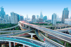 Shanghai Yan'an Road Viaduct Royalty Free Stock Photo