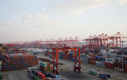 Shanghai Yangshan Deep Water Container Port Stock Photos