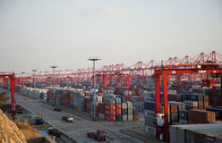 Shanghai Yangshan Deep Water Container Port Royalty Free Stock Photo