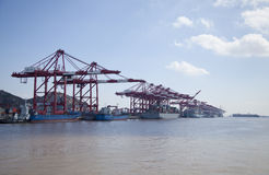Shanghai Yangshan deep-water container port Royalty Free Stock Photo