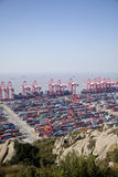 Shanghai Yangshan deep-water container port Royalty Free Stock Images