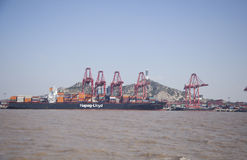 Shanghai Yangshan deep-water container port Stock Photography