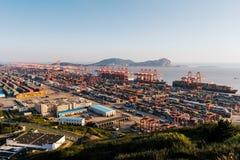 Shanghai Yangshan deepwater port Royalty Free Stock Photo