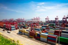 Shanghai Yangshan deepwater port Royalty Free Stock Photos