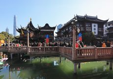 Shanghai yu garden the lunar calendar 2019 lantern festival stock photo