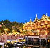 Shanghai yuyuan garden at night Stock Photo