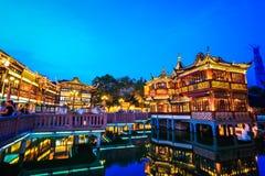 Shanghai yuyuan garden at night Stock Images