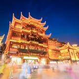 Shanghai yuyuan garden at night Royalty Free Stock Image