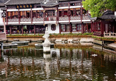 Shanghai Yuyuan Garden with Reflections China Stock Images