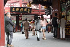Shanghai Yuyuan Nanxiang ångad bullerestaurang Royaltyfri Foto
