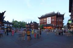 Shanghai yuyuan nattplats Royaltyfri Fotografi