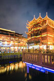 Shanghai yuyuan at night Royalty Free Stock Images