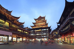 Shanghai yuyuan shopping mall night view. Yuyuan Garden shopping mall night view Stock Images