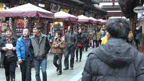 Shanghai - Yuyuan Tourist Mart. SHANGHAI, CN - MAR 16 2015:Yuyuan Tourist Mart in Shanghai, China.Shanghai Yuyuan Tourist Mart Company Limited, or Yuyuan Tourist stock video