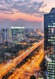 Shanghai z nocy Fotografia Stock