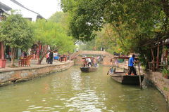 Shanghai Zhujiajiao Town at autumn Stock Photography