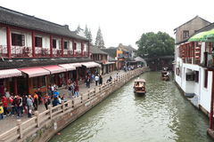 Shanghai Zhujiajiao Town at autumn Royalty Free Stock Images