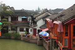 Shanghai Zhujiajiao Town at autumn Stock Images