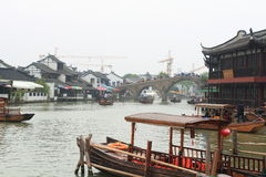 Shanghai Zhujiajiao Town at autumn Stock Image