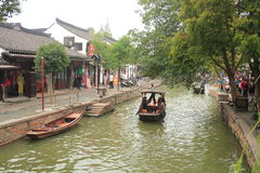 Shanghai Zhujiajiao Town at autumn Royalty Free Stock Photos