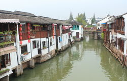 Shanghai Zhujiajiao Town at autumn Royalty Free Stock Photo