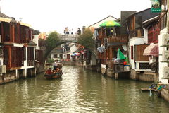 Shanghai Zhujiajiao Town at autumn Stock Photos