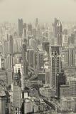 Shanghai in zwart-wit Royalty-vrije Stock Fotografie
