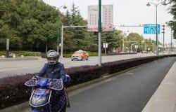 Shanghia hulajnoga obrazy stock