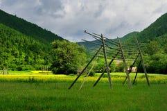 shangri τοπίου αγροκτημάτων Λα στοκ εικόνες με δικαίωμα ελεύθερης χρήσης