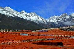 Shangri-La, Chine – 15 avril 2010 : Acteurs non identifiés dans im photographie stock libre de droits
