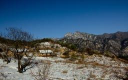 Shangri-La eller Arcadia i Qinling berg Royaltyfria Foton
