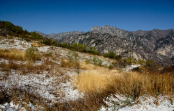 Shangri-La eller Arcadia i Qinling berg Royaltyfria Bilder