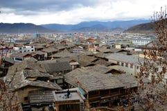 Shangri-La gammal stad i Kina Arkivfoto