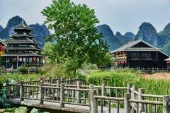 Shangri La Guilin Yangshuo Guangxi Kina Royaltyfri Bild