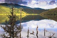 Shangri-La and lake Royalty Free Stock Image